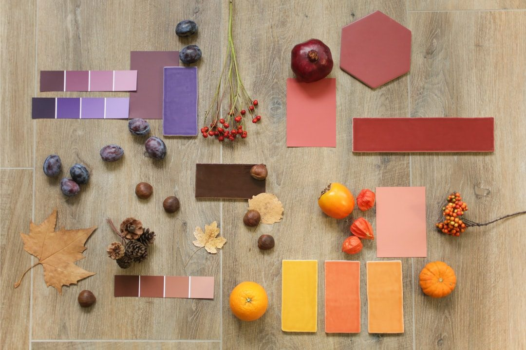 Moodboard Oktober: Akzentwände in Herbstfarben