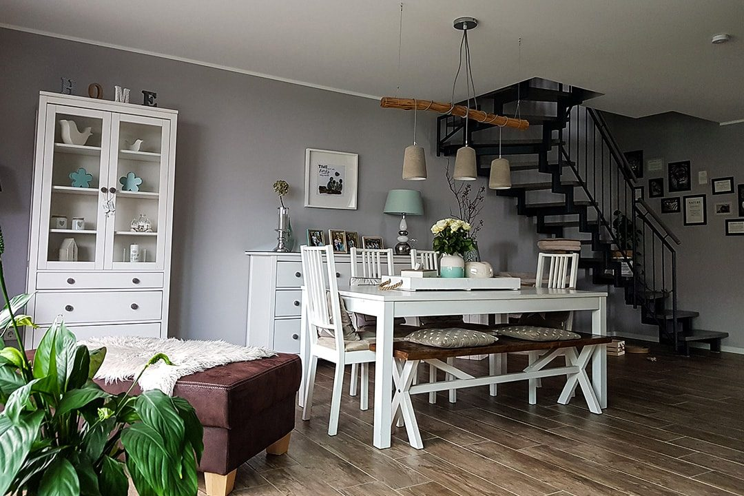 Wohnzimmer Kunde Fliese Lodge